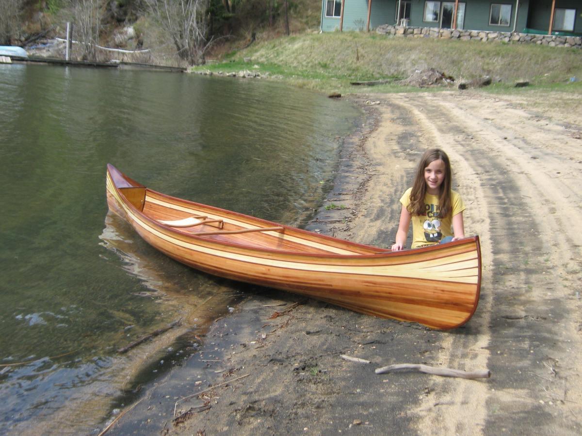 cedar strip wood kayak and canoe