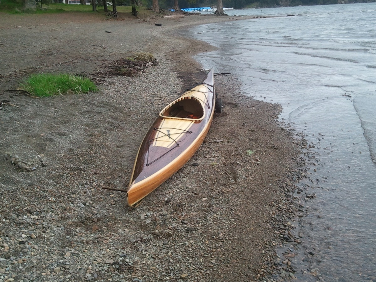 cedar strip kayak and canoe