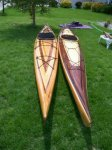 Cedar strip kayaks