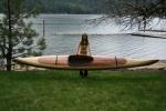 wood boat cedar strip kayak canoe