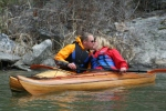 wood boat cedar strip kayak canoe