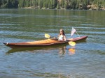 cedar strip kayak, light weight kayak, ultra light kayak
