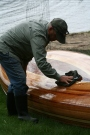 wood strip canoe by Heirloom Kayak in Idahocedar strip kayaks for sale, boat overlays, strip kayaks sale, cedar strip sup