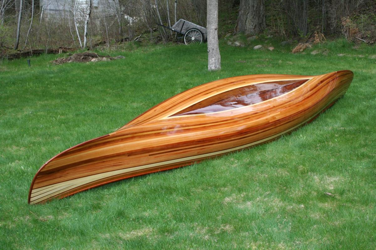 Heirloom Kayak & Canoe wood strip boat 3586 | Heirloom Paddle Sports