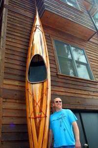 pic, picture, Heirloom Kayak wood strip boat and craftsman Robert Lantz, cedar strip kayaks for sale, boat overlays, strip kayaks sale, cedar strip sup