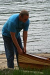 Heirloom Kayak wood strip boat and craftsman Robert Lantz