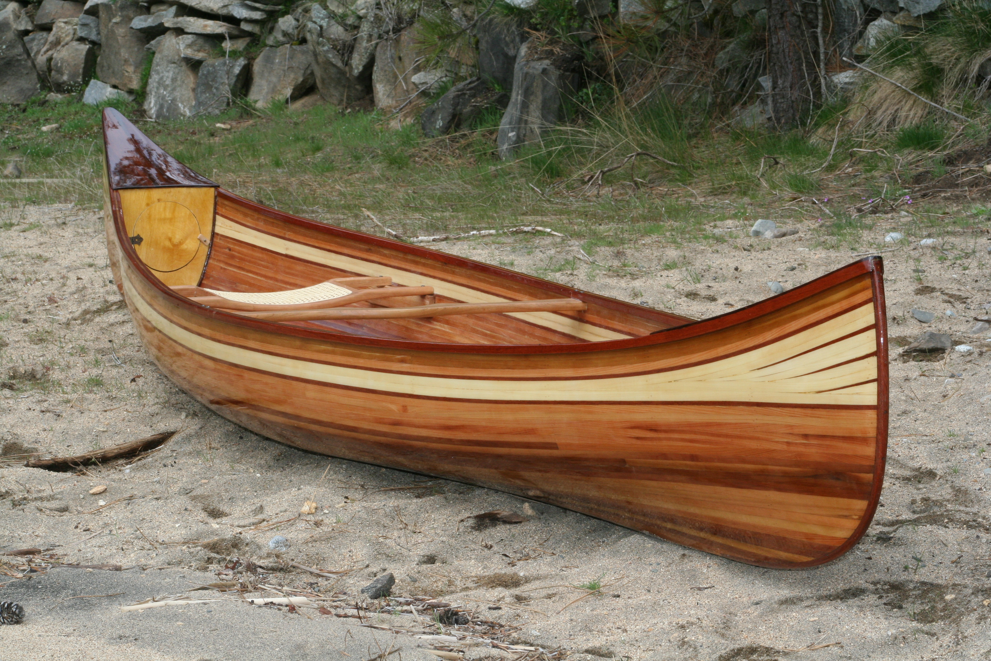 Heirloom Kayak & Canoe wood strip boat Idaho, USA_3640 ...