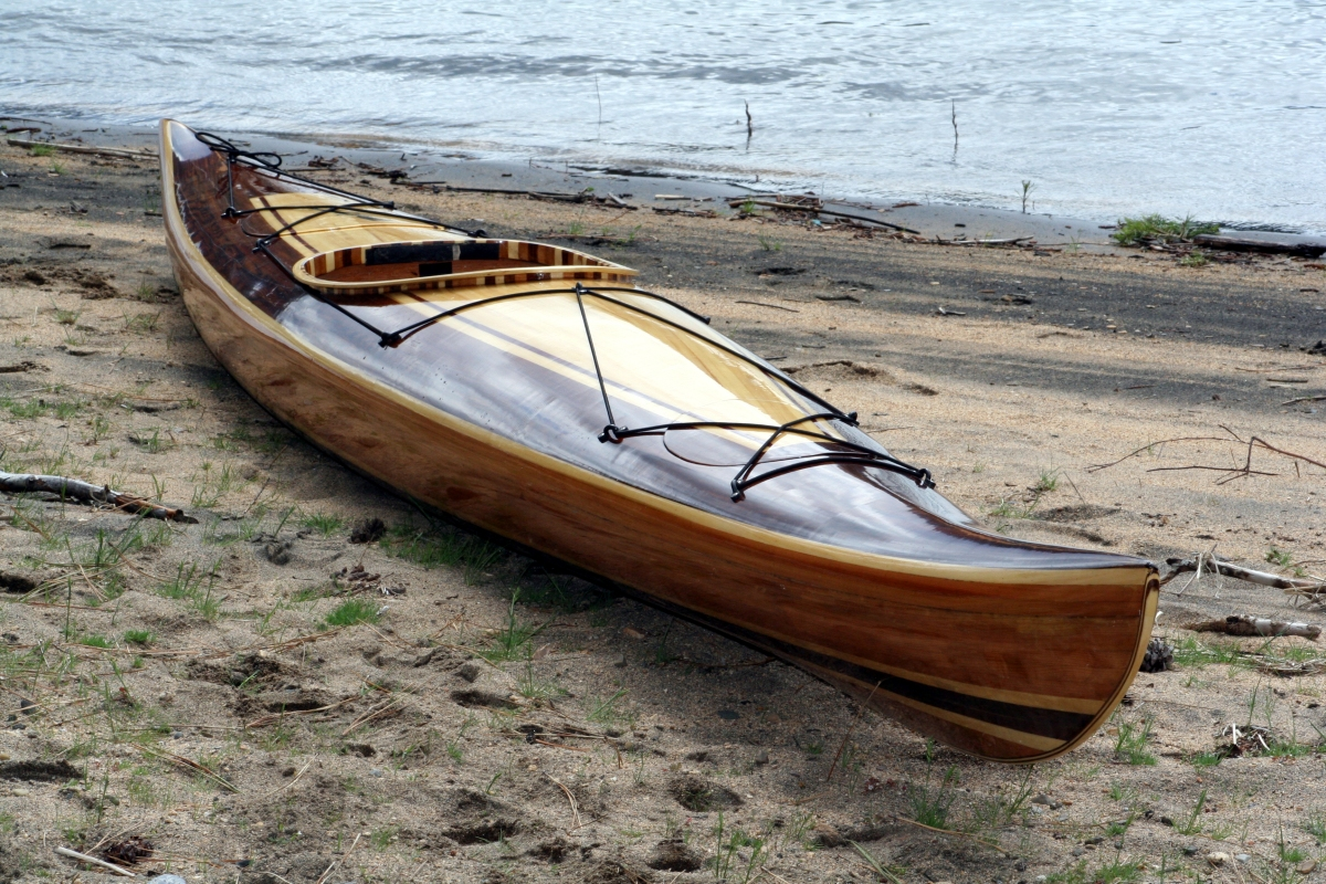 Heirloom Kayak & Canoe wood strip boat, American made in Idaho