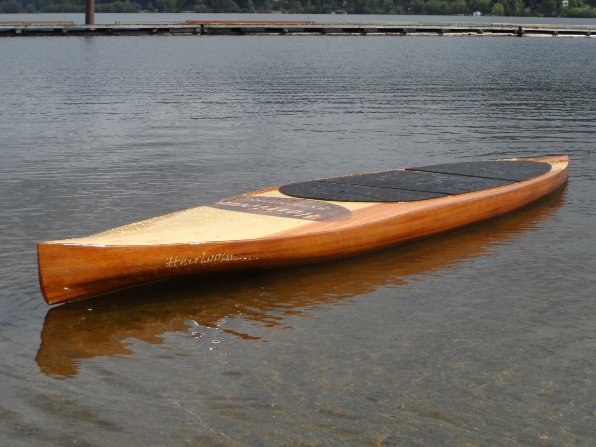 Cedar Strip Sup Stand Up Paddle Board Heirloom Paddle Sports